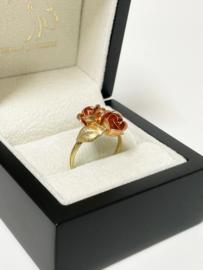 Theodor Klotz Design - 14 K Gouden Rozen Ring