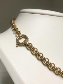 14 K Gouden Jasseron Slot Collier - 45 cm / 29,5 g