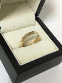 14 K Gouden Ring Romeinse Cijfers - 20 mm