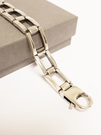 Zilveren Schakel Armband - 17,5 cm