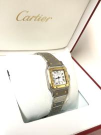 Cartier Santos Galbée Automatic Staal Goud - Full Set Incl Garantie