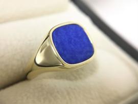 14 K Gouden Heren Zegelring Lapis Lazuli - 7,3 g