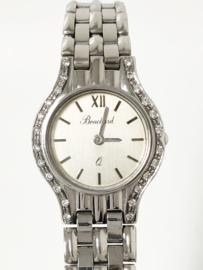 BOUCHARD 14 K Witgouden Dames Horloge Diamant - Quartz