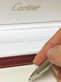 Cartier Pen Platinum Plated - Stylo Louis Cartier Incl Toebehoren
