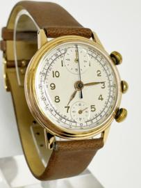 Pierce Watch Company 18 K Antiek Gouden Horloge Chronograaf - 1948
