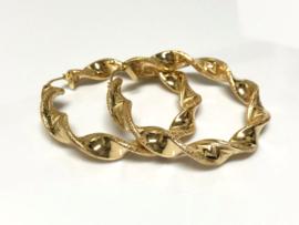 14 K Gouden Wokkel Creolen Versace - 5,5 cm / 11,55 g