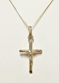 14 K Gouden Hanger - Kruis met Jezus Figuur / 3,5 cm