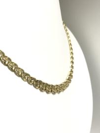 Vintage 14 K Gouden Schakel Collier Uitlopend - 45 cm / 13,63 g