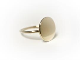 14 K Gouden Graveer Ring Rondje  - 1,2 cm
