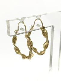 14 K Gouden Wokkel Creolen - 2 cm