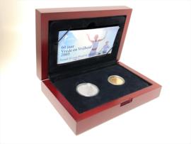 2005 - 60 Jaar Vrede en Vrijheid Goud 10 Euro en Zilver 5 Euro PROOF