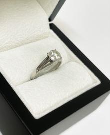14 K Witgouden Solitair Ring 1.25 Crt Briljant Geslepen Diamant K -  SI3
