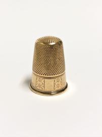 Antiek 14 K Gouden Vingerhoed (bewerkt) - ca 1880