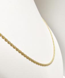 18 K Gouden Koord Ketting - 61,5 cm