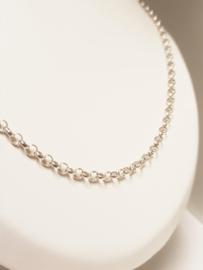 Zilveren Jasseron Schakel Collier - 70 cm / 4 mm
