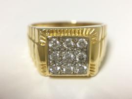 18 K Gouden Rolex Ring - Heren / 0.36 crt Diamant G / SI
