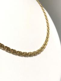 14 K Gouden Valkoog Schakel Ketting - 51 cm / 8,85 g