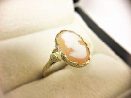 14 K Antiek Gouden Camee Ring