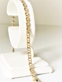 14 K Gouden Gucci Schakel Armband