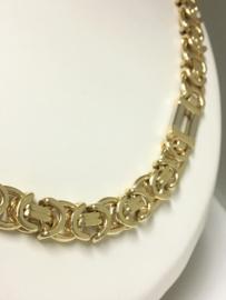 14 K Bicolor Gouden Koningsketting - 64 cm / 136,6 g