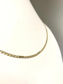 14 K Gouden Fantasie Schakel Ketting - 46 cm / 5,1 g