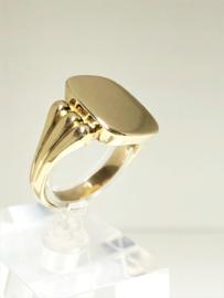 Handvervaardigd 14 K Antiek Massief Gouden Zegelring - 10,05 g