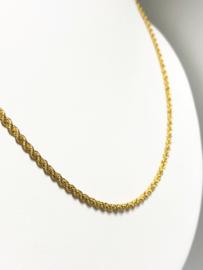 18 K Gouden Koord / Rope / Kabel Ketting - 51,5 cm / 2,3 mm