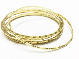 Set  14 K Gouden Rinkel Armbanden (7x) - 44,51 gram