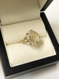 Vintage 8 Karaat Antieke Ring Kennedy Memory Muntje
