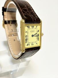 Must de Cartier Tank Large Quartz 590005 - Champagne Roman Dial