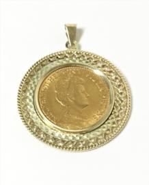 Antiek Gouden Hanger - Gouden Tientje Wilhelmina 1913