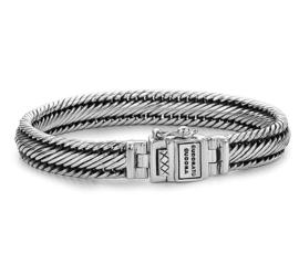 Buddha to Buddha Edwin Zilveren Schakel Armband - 19 cm / 10 mm
