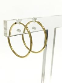 14 K Gouden Oorhangers / Creolen (Glad) - 3 cm