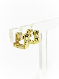 Quinn Design Rechthoekige Oorhangers 0.12 crt Briljant Geslepen Diamant H / VVS1