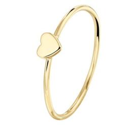 14 K Gouden Aanschuif Ring Hartje