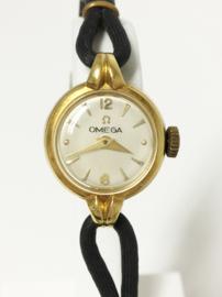 Antiek 18 K Gouden Omega Dames Horloge - 1944