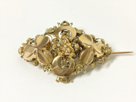 Antiek Handvervaardigd 14 K Gouden Filigrain Broche - ca 1920