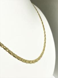 14 K Gouden Valkoog Schakel Ketting - 51 cm / 11,4 g / 3,7 mm