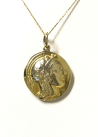 14 K Goud - Munt Hanger Romeinse Rijk