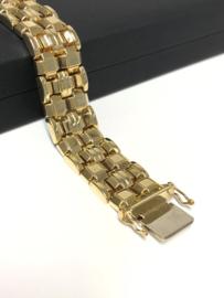 Vintage 14 K Gouden Schakel Armband - 18 cm / 31,3 g / 1,6 cm