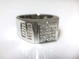 18 K Witgouden Heren Ring 1.47 crt Diamant F / VVS1 - 15,7 g