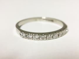 Diamonde 14 K Witgouden Rijring 0.30 crt Briljantgeslepen Diamant G/IF