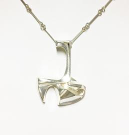 Lapponia Zilveren Schakel Collier met Hanger - 40 cm
