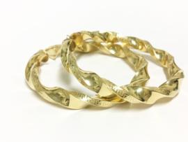 Grote 14 K Gouden Versace Wokkel Creolen - 6,5 cm