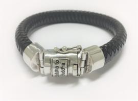 Buddha to Buddha Armband Ben Leather Black - XL (23 cm)
