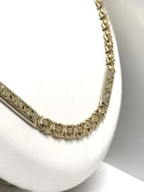 14 K  Bicolor Gouden Koningsketting - 63 cm / 61,5 g