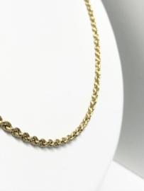 14 K Gouden Koord Rope Kabel Ketting - 62 cm / 8 g / 3 mm