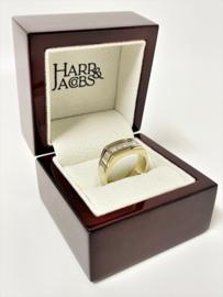 Harr & Jacobs 14 K Bicolor Gouden Heren Ring 0.65 crt Diamant G/VVS2-VS1