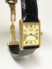 Must de Cartier Tank Large Quartz Roman Ivory Dial - 2 Jaar Cartier Garantie