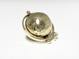 Grote Vintage Bedel 14 K Gouden Aardbol (flexibel) - 2,7 cm